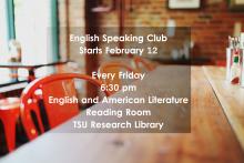 English Speaking Club 2016